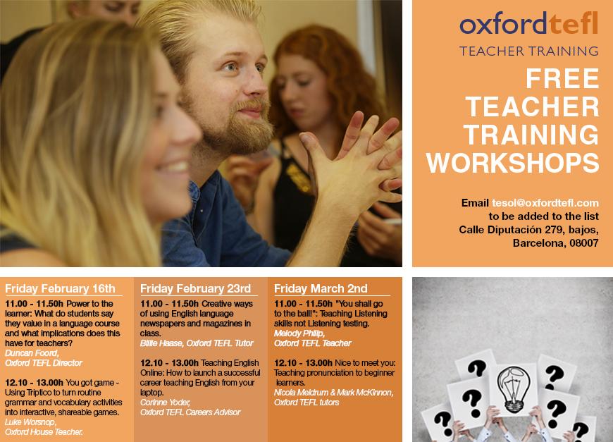 Free Barcelona Teacher Workshops