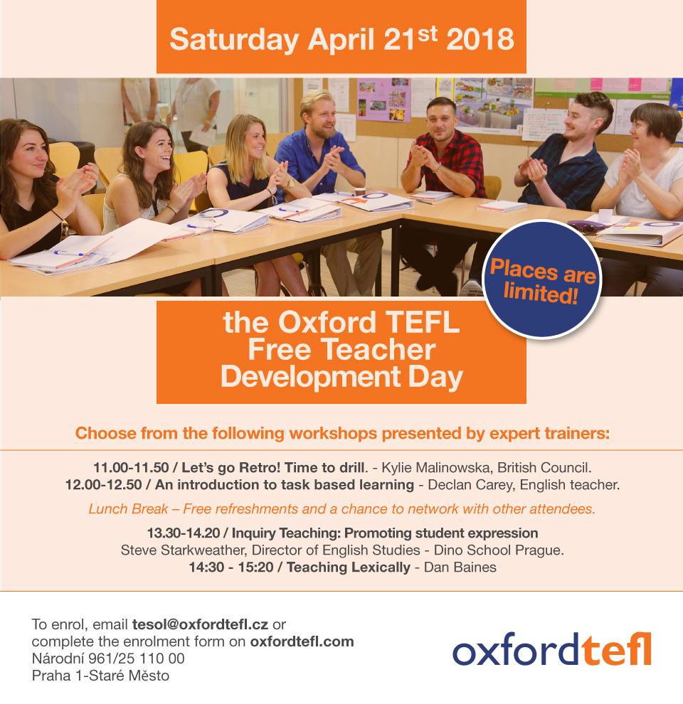 free teacher workshops prague